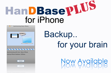 HanDBase Plus Add-on for iPhone, iPod touch and iPad for Mac